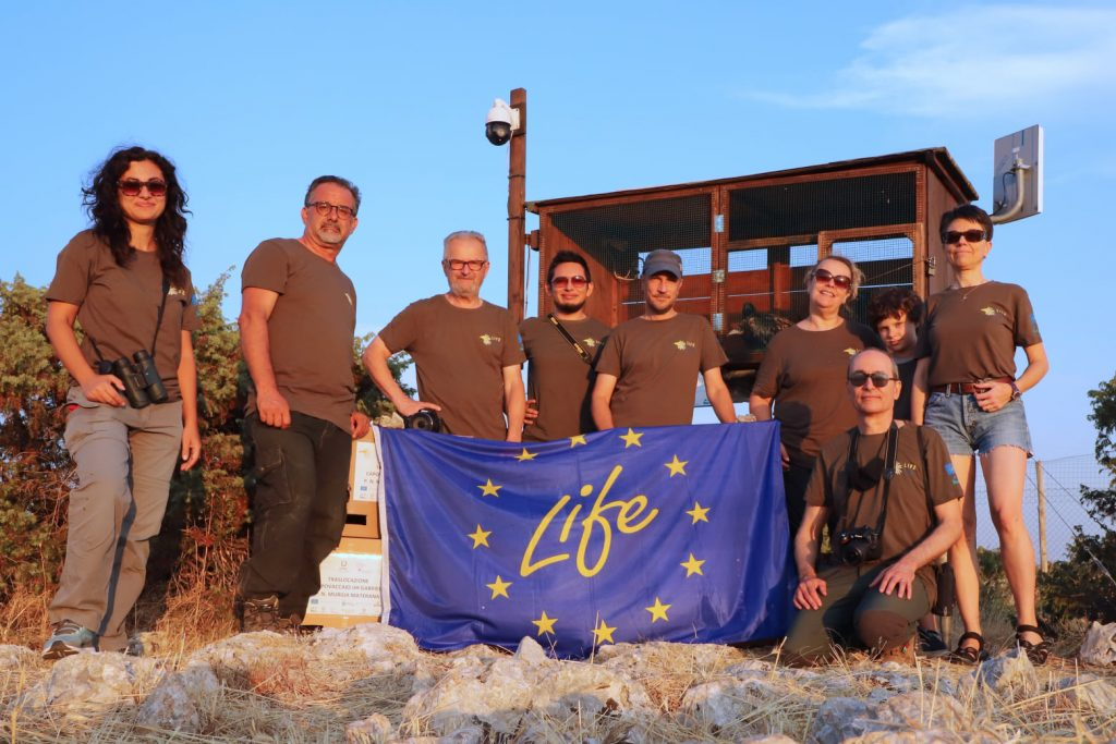 The LIFE working group that carried out the 2021 of Egyptian Vultures in Italy