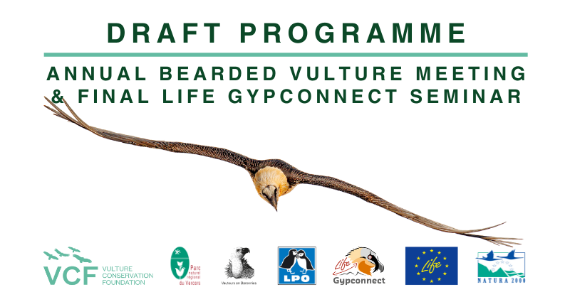 link card - draft programme of the Annual Bearded Vulture Meeting 2021